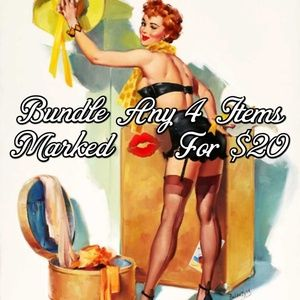Bundle Any 4 Items Marked 💋 For $20